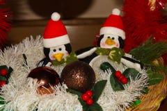 La decoración de la Navidad para las postales o las etiquetas casa cristmas Fotografía de archivo libre de regalías