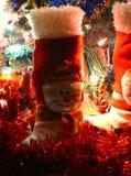 La decoración de la Navidad patea el muñeco de nieve Foto de archivo