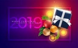 La decoración de la Navidad se opone y la caja de regalo con las luces mágicas libre illustration