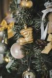 La decoración del árbol de navidad juega 4585 Imágenes de archivo libres de regalías