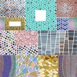 La decoración del mosaico enmarca el ejemplo elegante del vector del fondo del diseño del remiendo del elemento geométrico tradic Imagen de archivo libre de regalías