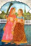 La decoración del palacio de Dungarpur. Imágenes de archivo libres de regalías