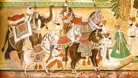 La decoración del palacio de Dungarpur. Fotografía de archivo libre de regalías
