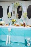 La decoración en una ceremonia de boda Imagenes de archivo
