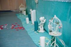 La decoración en una ceremonia de boda Foto de archivo libre de regalías