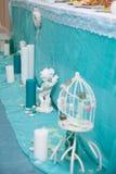 La decoración en una ceremonia de boda Imagen de archivo libre de regalías