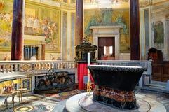 La decoración interior de la iglesia Imagen de archivo