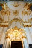 La decoración interior del palacio del invierno foto de archivo libre de regalías