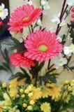 La decoración roja de la flor fotos de archivo