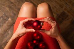 La decorazione è pronta per tempo di Natale Fotografie Stock Libere da Diritti