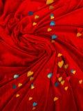 La decorazione del biglietto di S. Valentino turbinato fotografie stock libere da diritti