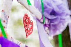 La decorazione del cuore per nozze Fotografia Stock