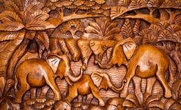 La decorazione di legno nello stile di Bali Fotografia Stock