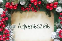 La decorazione di Natale, Adventszeit tedesco significa Advent Season immagine stock libera da diritti