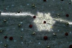 La decorazione di Natale obietta la foto astratta del fondo Fotografia Stock