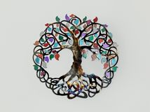 La decorazione spirituale di simbolo dell'albero della vita fotografia stock libera da diritti