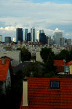 La Defense. View of La defense from the a residential suburn stock image