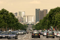 La Defense. Paris, France. View on La Defense - major business district in Paris Royalty Free Stock Photography