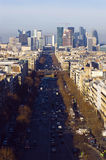 La Defense. The Avenue Charles de Gaulle and La Defense, Paris Stock Photography