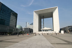 La Defense Arch. The big arch of La Defense in Paris Royalty Free Stock Image
