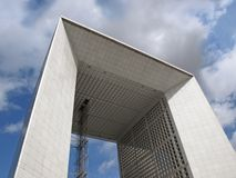 La Defense big arch in Paris Stock Images