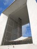 La Defense big arch in Paris Royalty Free Stock Photo