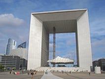 La Defense big arch in Paris Royalty Free Stock Photography