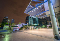 La Defense buildings at night Royalty Free Stock Photography