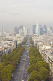 La Defense business area, Grande Armee avenue. Paris Royalty Free Stock Image