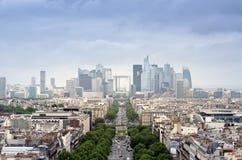La Defense business area in Paris Royalty Free Stock Photo