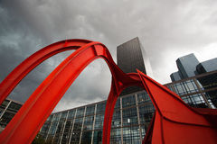 La Defense business district in Paris. Royalty Free Stock Photos
