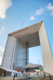 La Defense business district in Paris Royalty Free Stock Image
