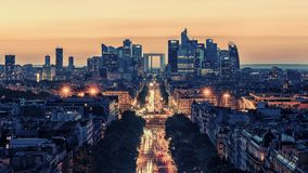 La Defense business district in Paris royalty free stock photography