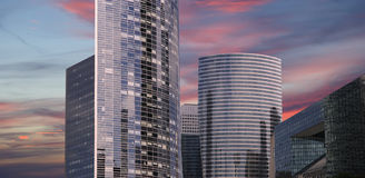 La Defense, commercial and business center of Paris, France Royalty Free Stock Photos