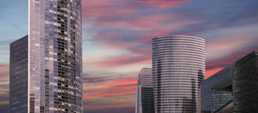 La Defense, commercial and business center of Paris, France Stock Images