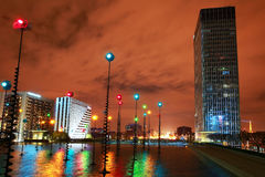 La Defense district of Paris in the evening Royalty Free Stock Images
