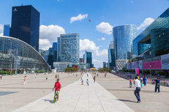 La Defense district in Paris Stock Images