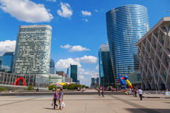 La Defense district in Paris Stock Image