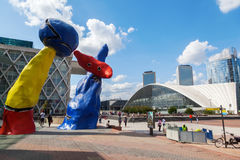 La Defense district in Paris Royalty Free Stock Photography