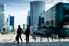 La Defense district Royalty Free Stock Photo