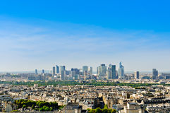 La Defense district seeing from Eiffel Tower, Paris, France Stock Images