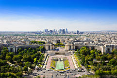 La Defense district and Trocadero place, Paris, France. Royalty Free Stock Photo