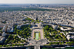 La Defense district and Trocadero place, Paris, France. Royalty Free Stock Photography