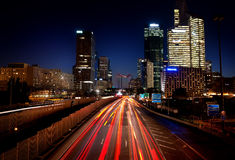 La Defense in evening Royalty Free Stock Photography