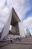 La Defense, Grande Arche in Paris, France Royalty Free Stock Photography