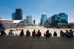 La Defense Grande Arche Steps Royalty Free Stock Images