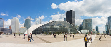 La Defense the major business district of the Paris, France Stock Photography