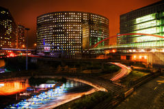La Defense at night Stock Photo