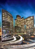 La defense by night - Paris - France Stock Image