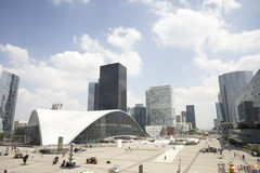 La Defense In Paris. With modern buildings in background Stock Photography